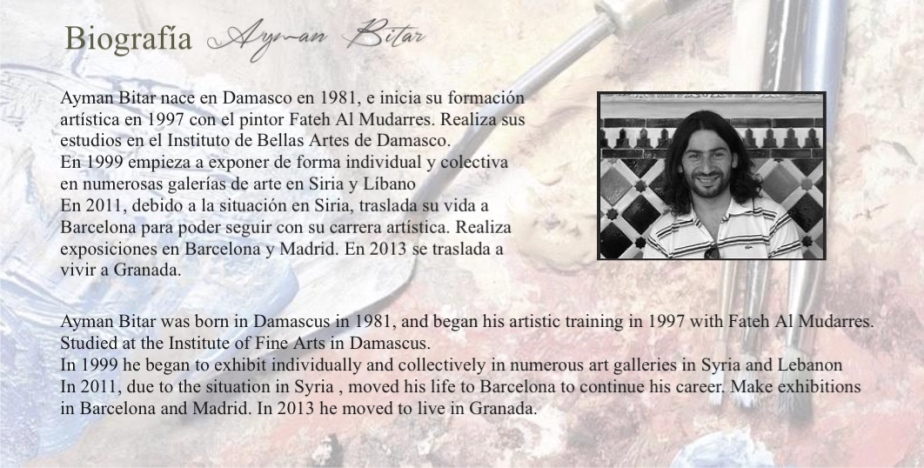 Ayman Bitar biografía resumen pintura